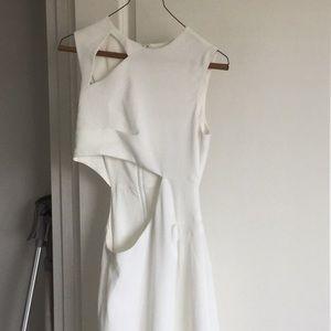 BCBGMaxazria Long White Dress Cut-Out sz. 0